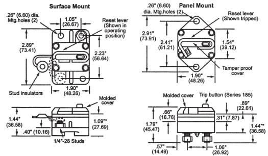 Bep Marine 185-Series Circuit Breaker