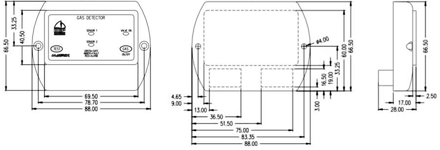 BEP Marine 600 Series Gas Detector/Alarm System