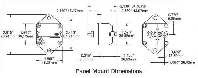 bluesea systems bussman 185 panel mount