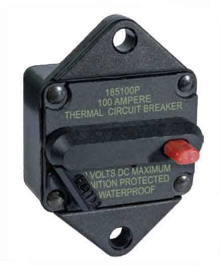 Blue Sea Systems 185-Series Panel Mount Circuit Breaker - bluemarinestore.com