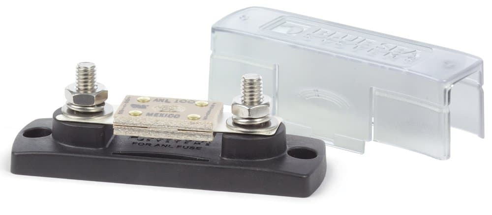Blue Sea Systems ANL Fuse Block with Cover - bluemarinestore.com