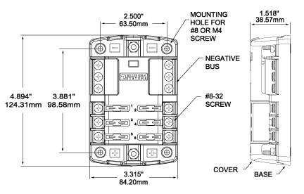 Blue Sea Systems ST Blade Fuse Block with Negative Bus - bluemarinestore.com