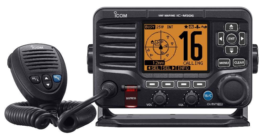 Icom IC-M506GE Marine VHF GPS/DSC/AIS/NMEA2000 - bluemarinestore.com