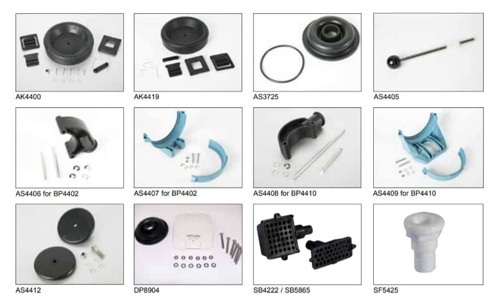 Whale Gusher® Titan Spare Parts & Service Kits - bluemarinestore.com