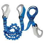 Wichard Elastic 3 Hook Snap Shackle Tether - bluemarinestore.com