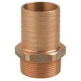 Guidi 1004B Male BSPT Bronze Hose Connector - bluemarinestore.com